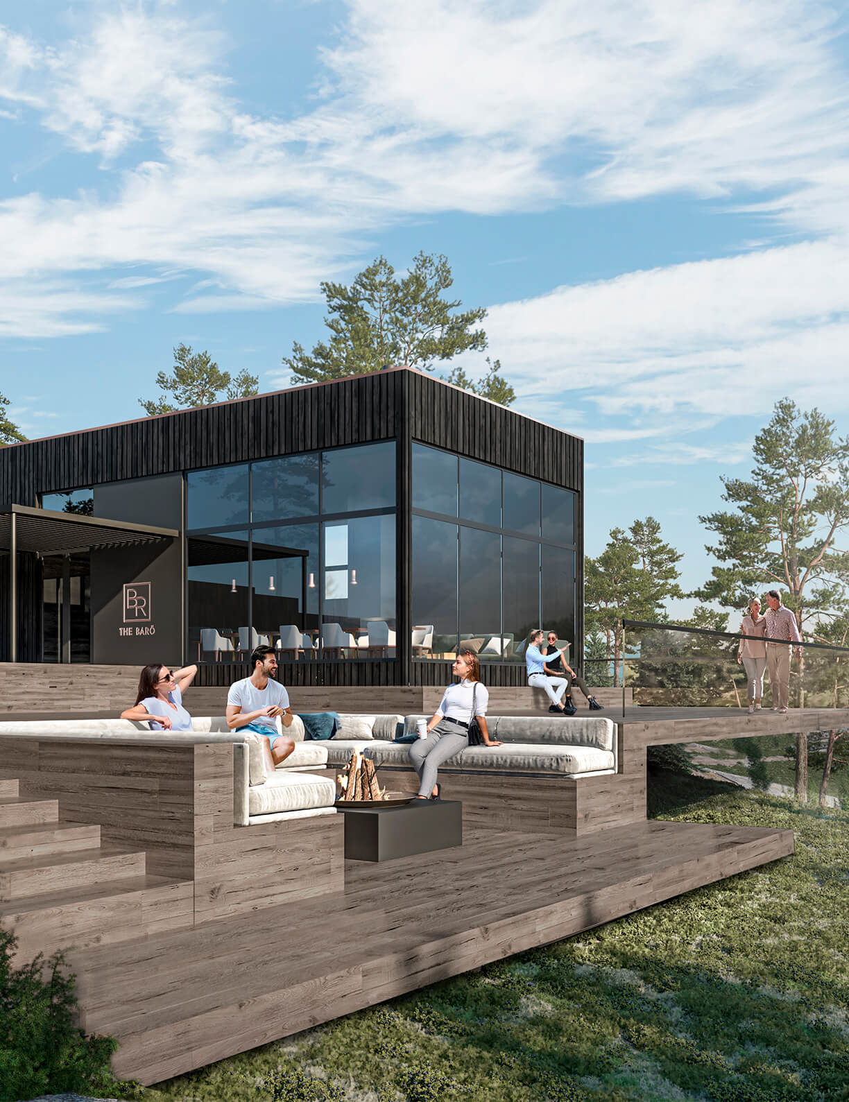 The Barö avaa ovensa Barösundin kauniissa maisemissa 1.6.2021.